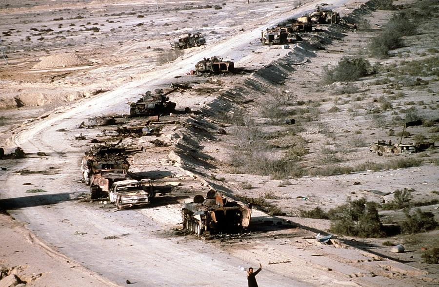 An Iraqi Armored Column Destroyed Photograph