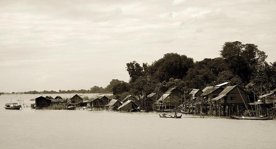 Burma Photograph - An Island Village On River Irrawaddy by RicardMN Photography