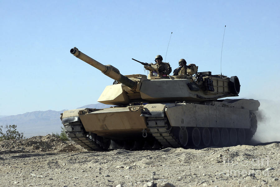 An M1a1 Main Battle Tank Photograph