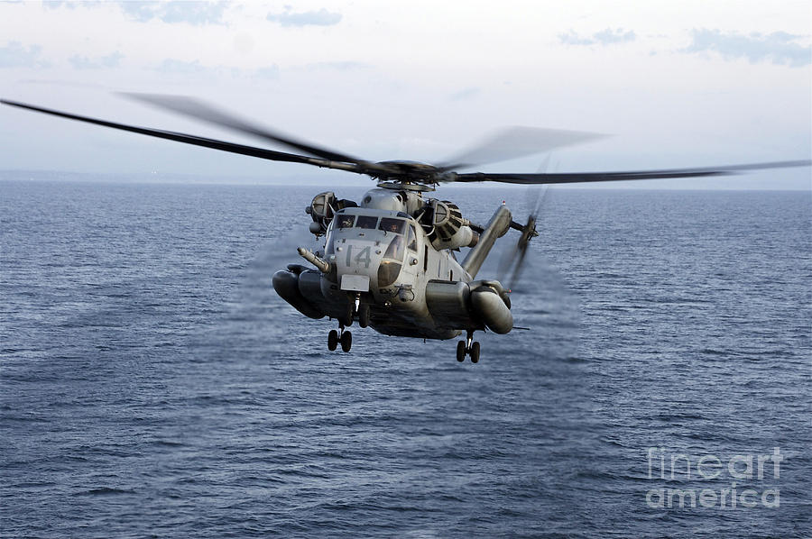 An Mh-53e Sea Dragon In Flight Photograph  - An Mh-53e Sea Dragon In Flight Fine Art Print