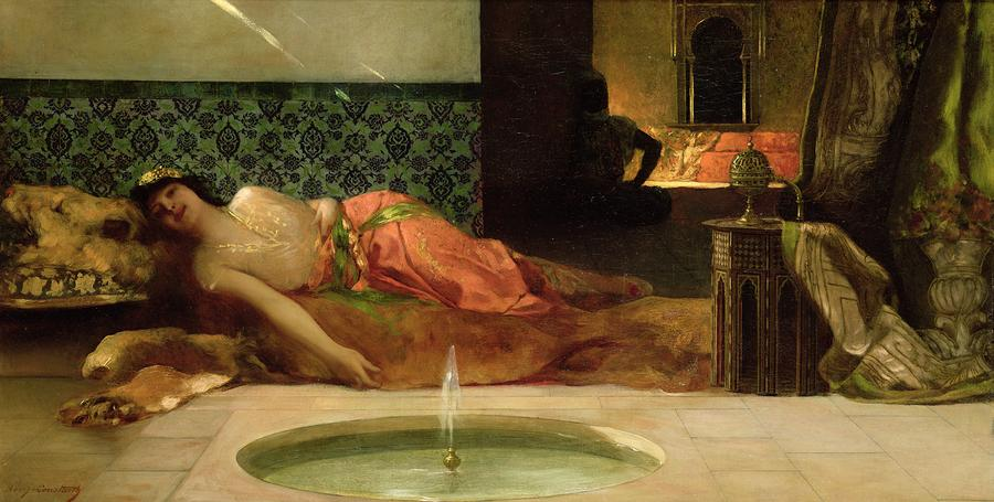 An Odalisque In A Harem Painting  - An Odalisque In A Harem Fine Art Print