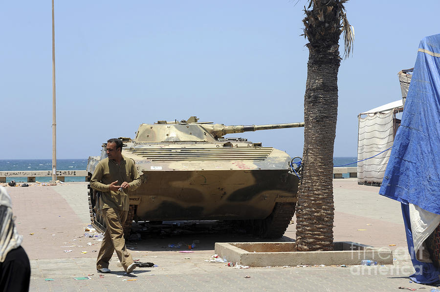 Benghazi Photograph - An Old Russian Bmp Armored Personnel by Andrew Chittock