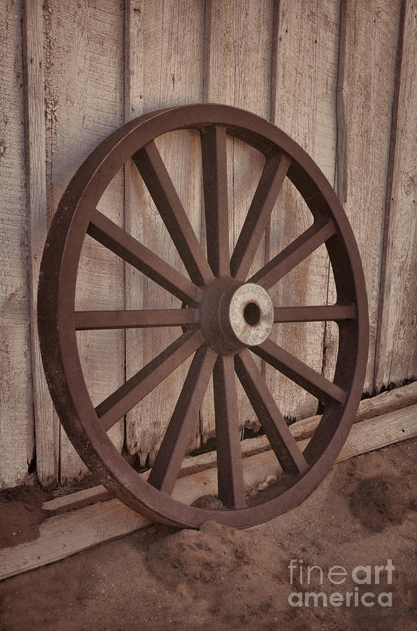 An Old Wagon Wheel Photograph
