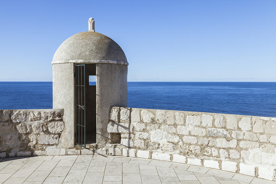 An Outpost Overlooking The Adriatic Sea Photograph