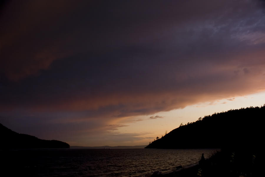 Anacortes Island And Burrows Bay Sunset Photograph