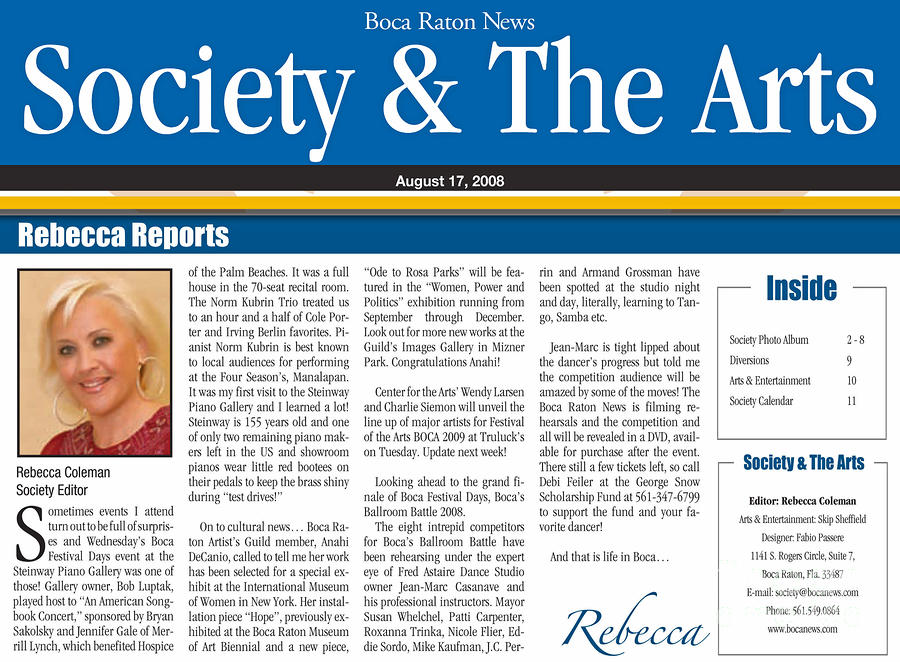 Anahi Decanio Featured In Boca Raton News Mixed Media