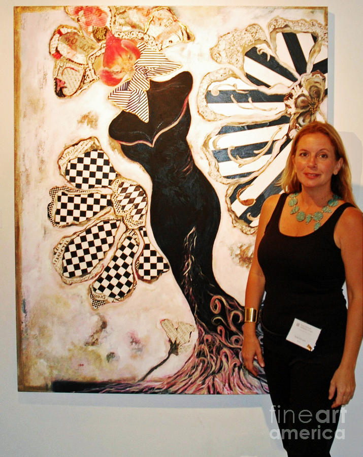 Anahi Decanio Wins First Place For Orchidea Mixed Media  - Anahi Decanio Wins First Place For Orchidea Fine Art Print