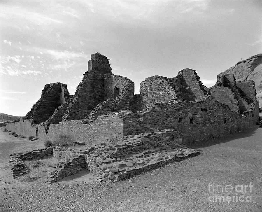 Anasazi Ruins In Chaco Canyon Photograph  - Anasazi Ruins In Chaco Canyon Fine Art Print