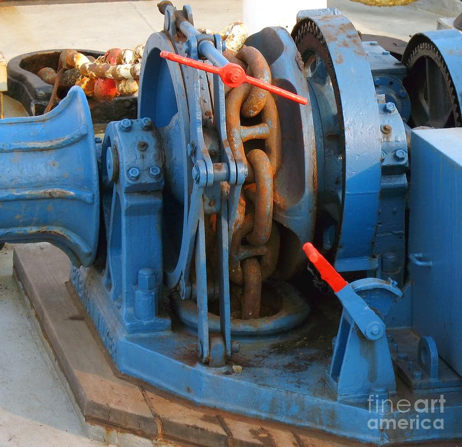 Anchor Winch Photograph  - Anchor Winch Fine Art Print