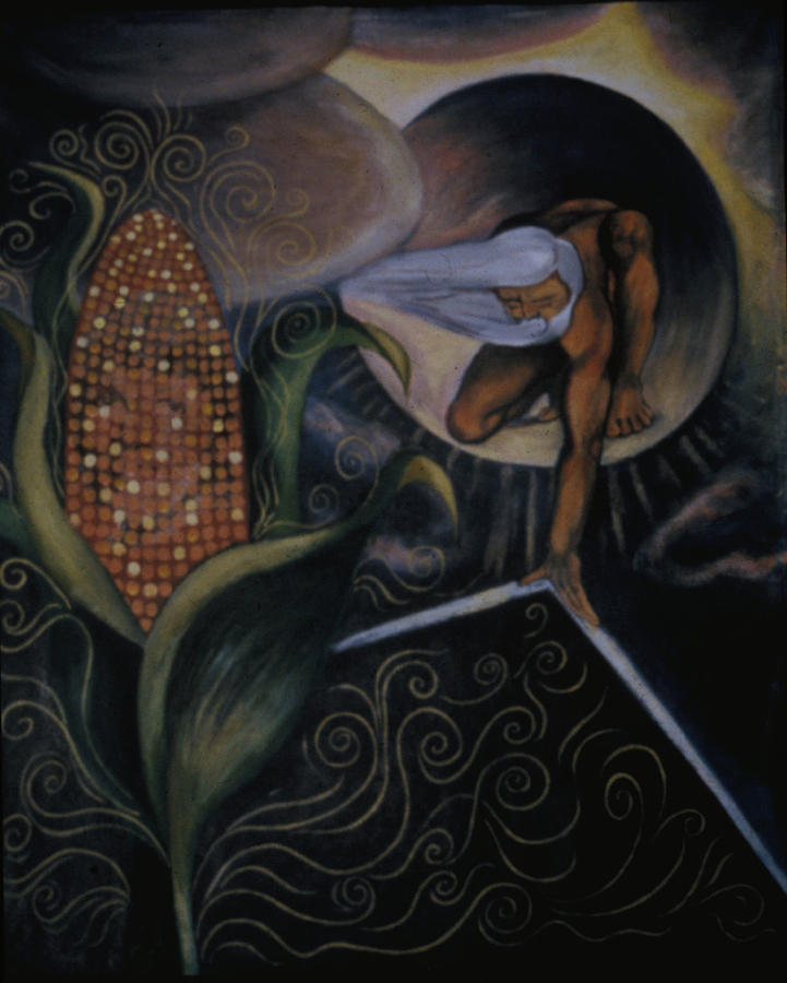 Ancient Days Of Corn Mother Creation Myth Painting