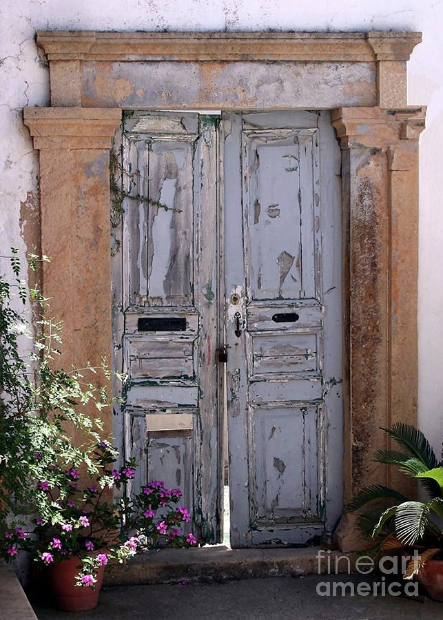 Ancient Garden Doors In Greece Photograph  - Ancient Garden Doors In Greece Fine Art Print
