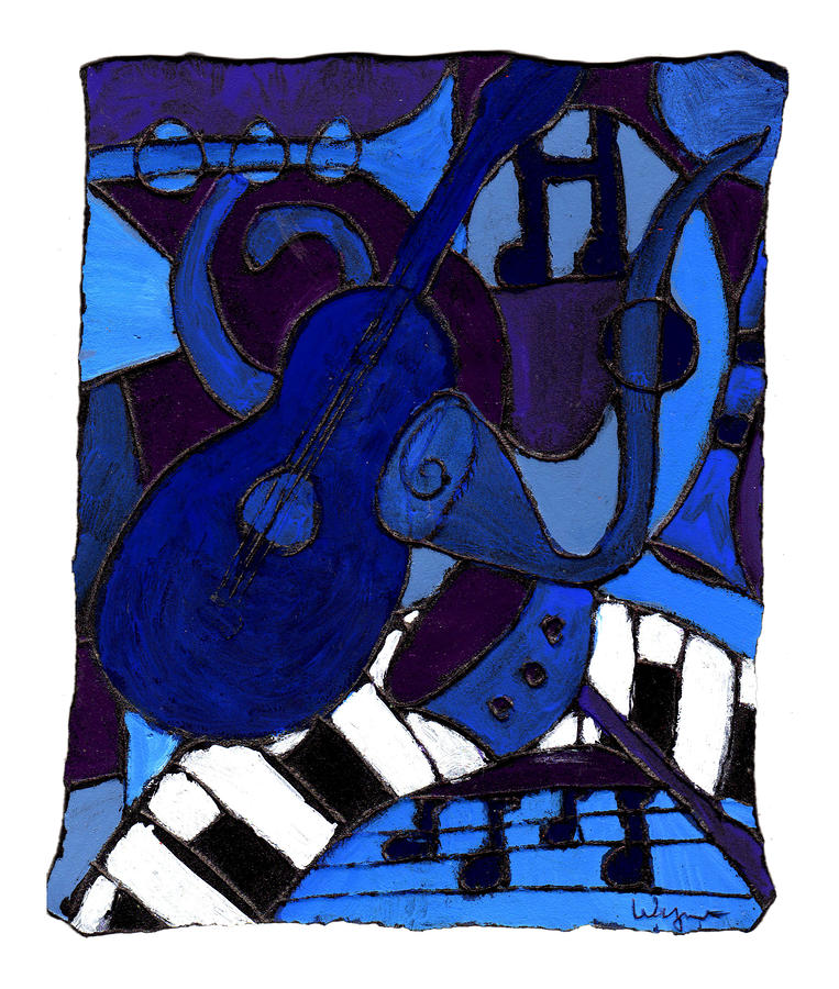 and All that Jazz one Painting  - and All that Jazz one Fine Art Print