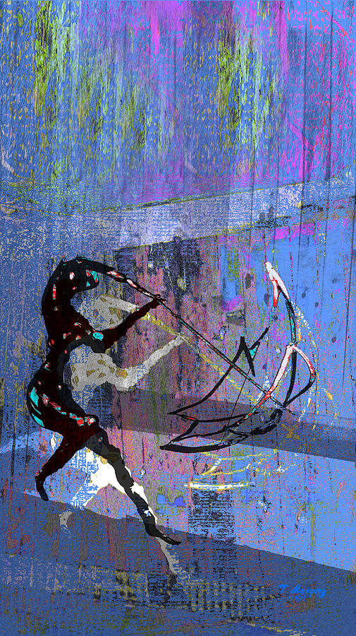 And Singing In The Rain Digital Art  - And Singing In The Rain Fine Art Print