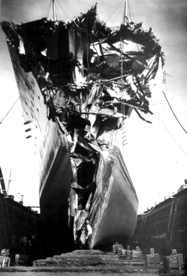 Andrea Doria Disaster. This Head-on Photograph