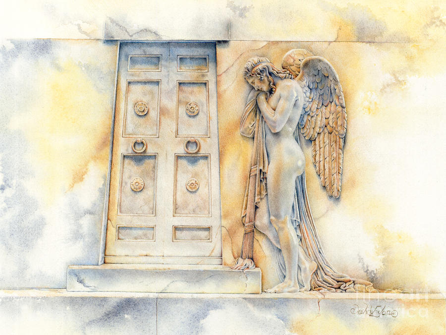 Angel At The Gate Drawing  - Angel At The Gate Fine Art Print