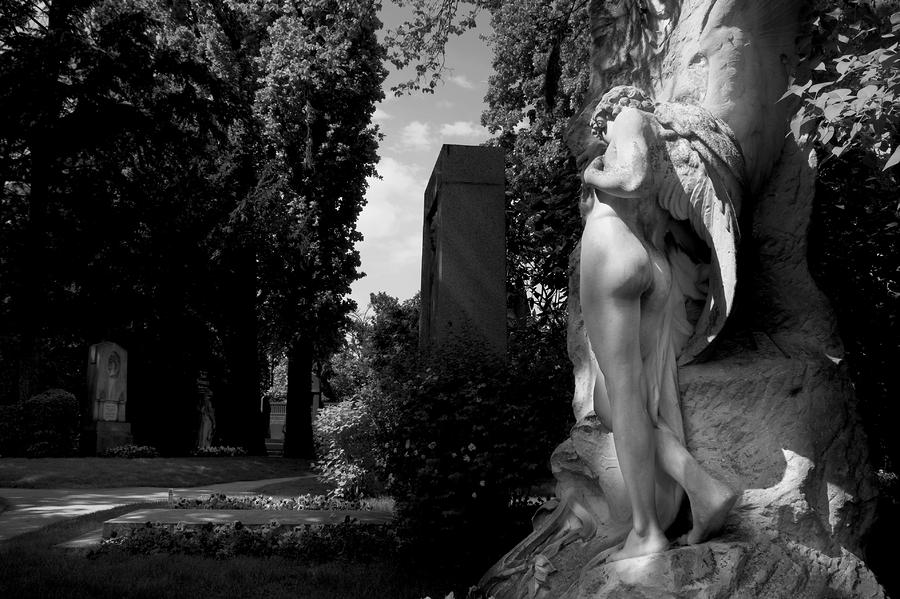 Angel At The Grave Photograph  - Angel At The Grave Fine Art Print
