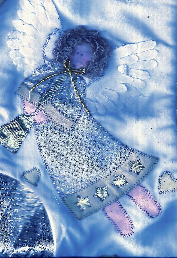 Angel Blue Mixed Media  - Angel Blue Fine Art Print