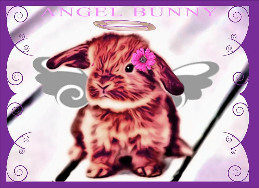 Angel Bunny Photograph  - Angel Bunny Fine Art Print