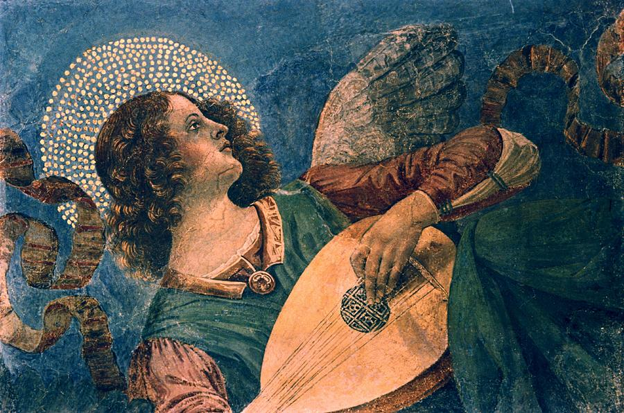 Angel Depicted As A Musician By Melozzo Da Forli Photograph  - Angel Depicted As A Musician By Melozzo Da Forli Fine Art Print