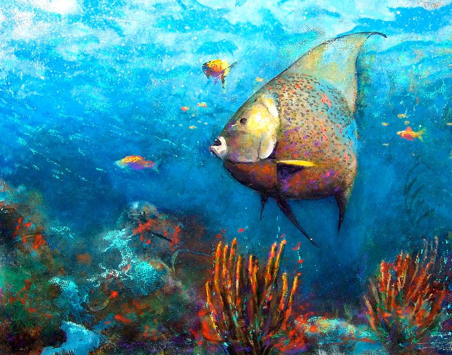 Angel Fish Painting  - Angel Fish Fine Art Print