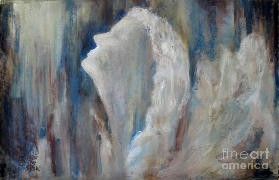 Angel In Soft Pastel Painting  - Angel In Soft Pastel Fine Art Print