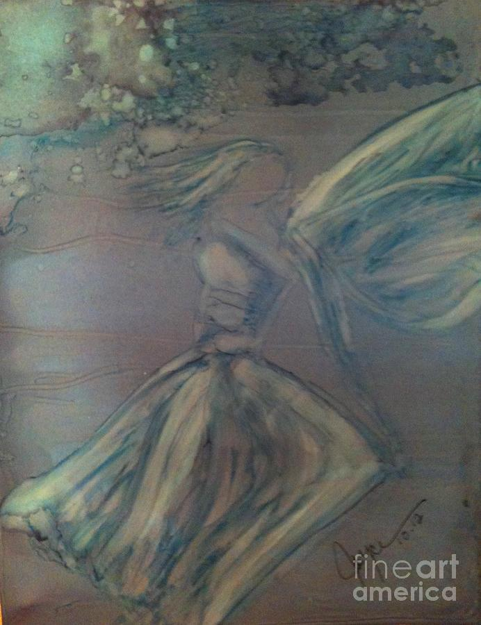 Angel In Wind Painting  - Angel In Wind Fine Art Print