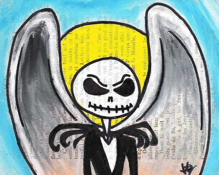Angel Jack Skellington Painting
