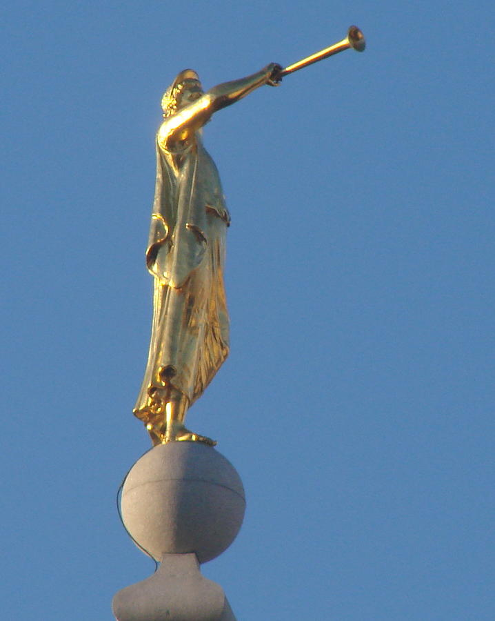 Angel Moroni Statue Photograph