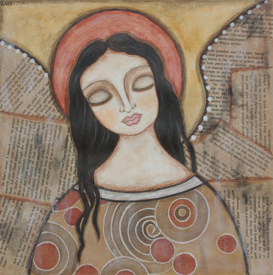 Angel Of Dreams Painting  - Angel Of Dreams Fine Art Print