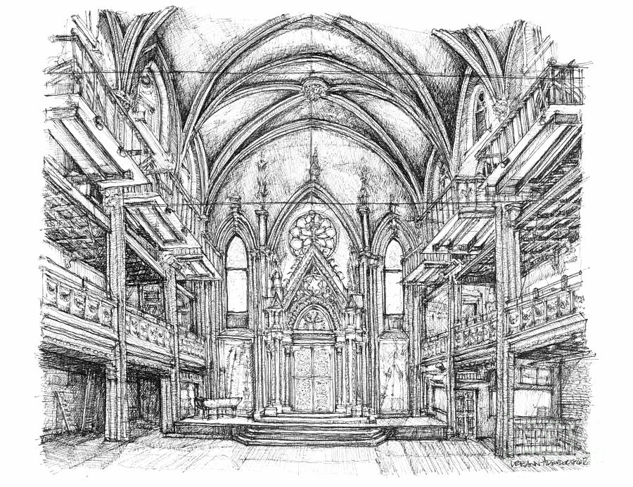 Angel Orensanz Center In Nyc Drawing  - Angel Orensanz Center In Nyc Fine Art Print
