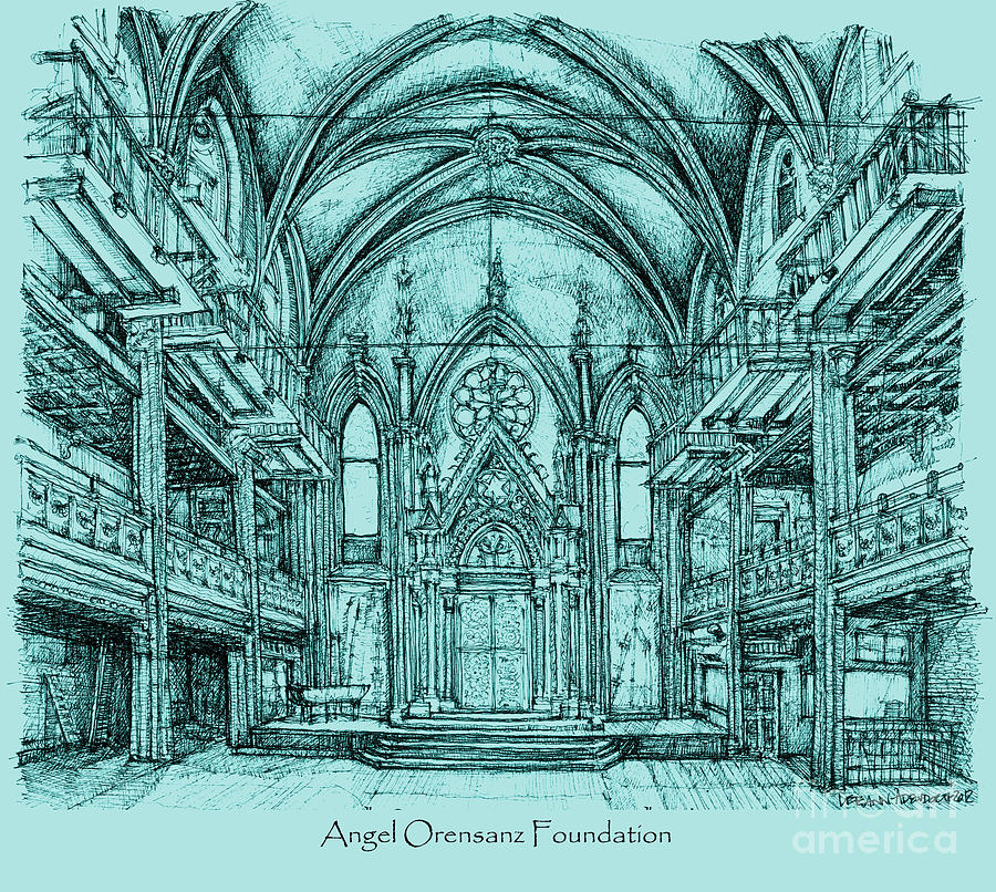 Angel Orensanz In Blue Drawing