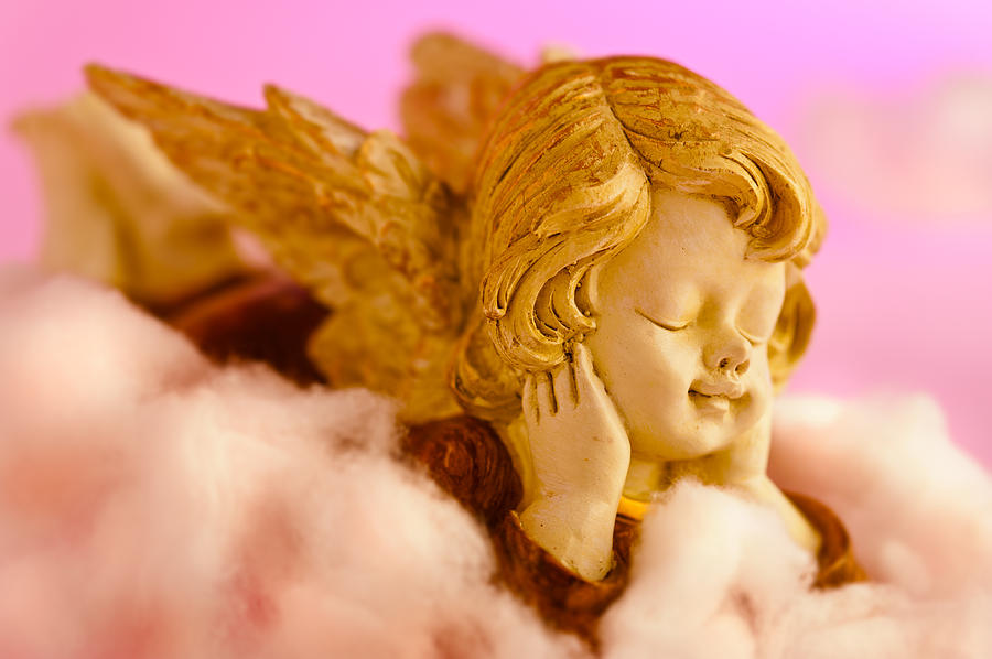 Angel Resting On Clouds And Enjoying The Sun Photograph