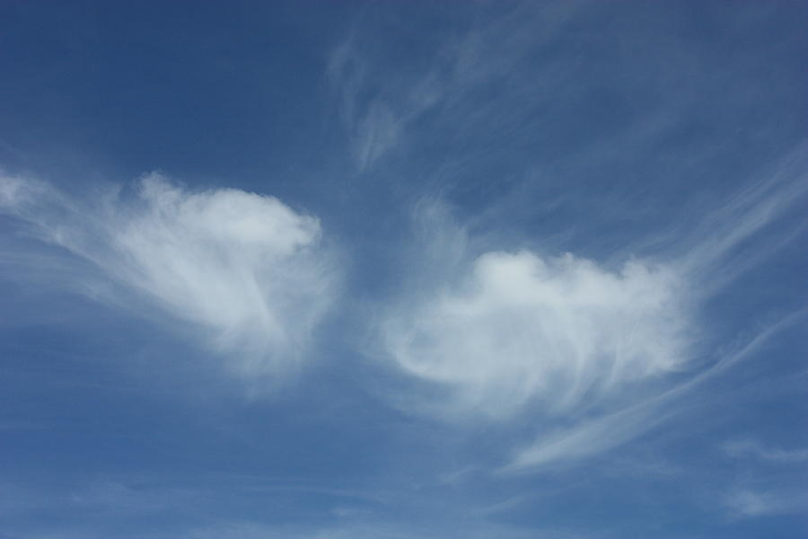 Angel Wings In The Sky Photograph