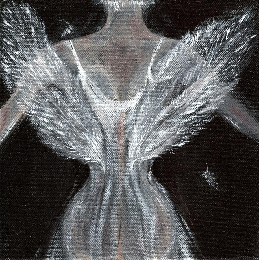 Angel wings by sue wright for Angel paintings for sale