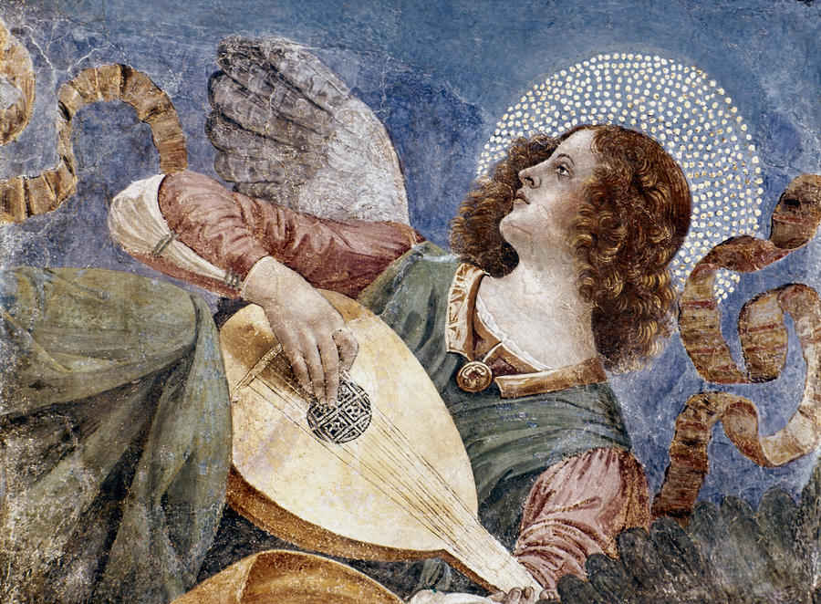 Angel With A Lute Photograph  - Angel With A Lute Fine Art Print
