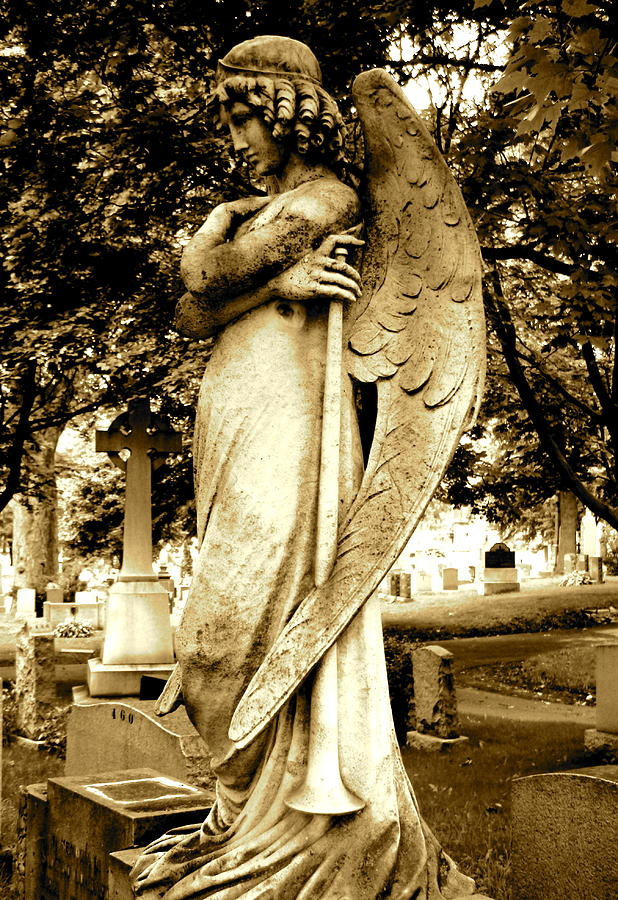 Angel With A Trumpet. Photograph  - Angel With A Trumpet. Fine Art Print