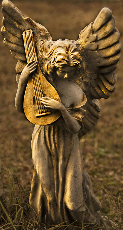 Angel With Lute Photograph  - Angel With Lute Fine Art Print