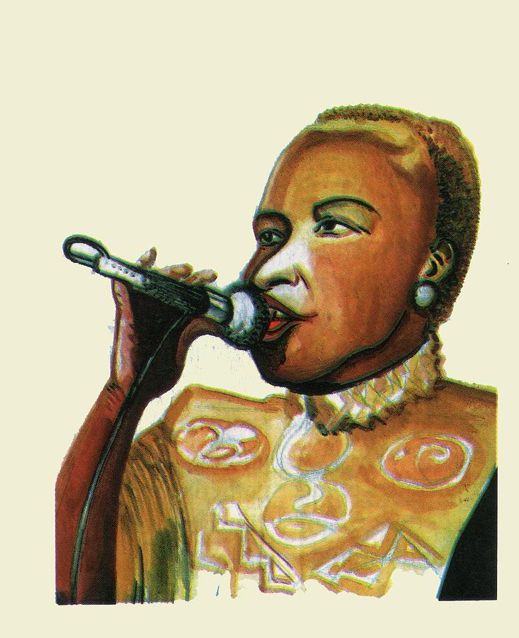 Muisc Painting - Angelique Kidjo by Emmanuel Baliyanga