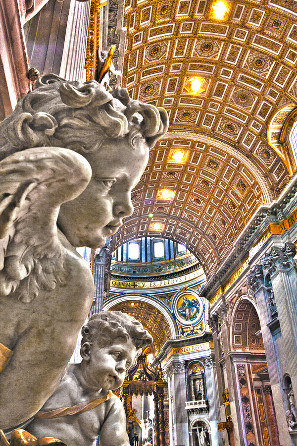 Angels At The Vatican Photograph  - Angels At The Vatican Fine Art Print