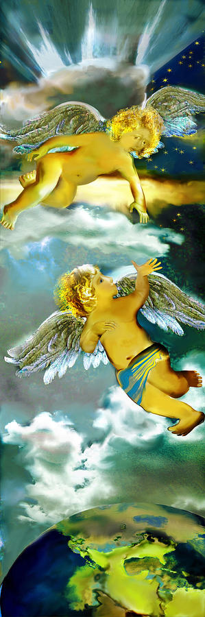 Angels In Heaven Painting