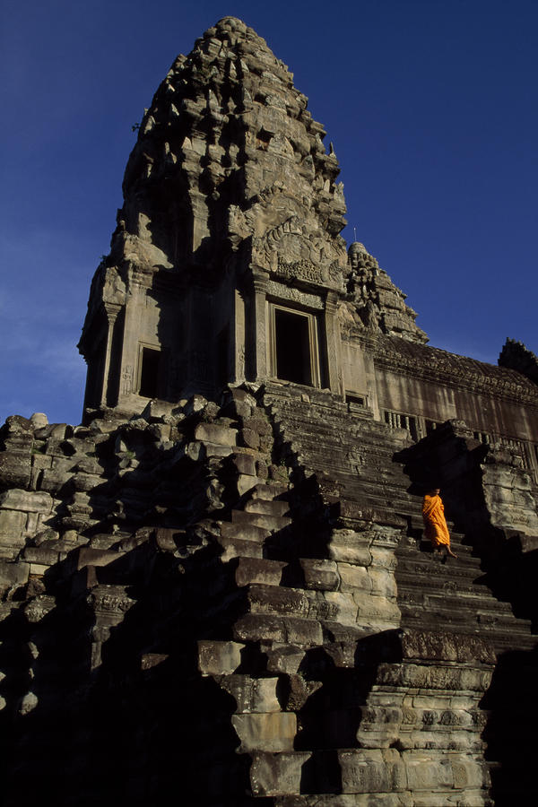 Angkor Wat Temple Complex With Ornate Photograph