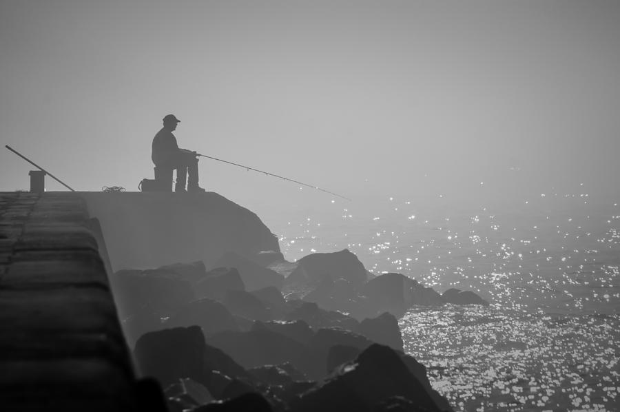 Angling In A Fog  Photograph  - Angling In A Fog  Fine Art Print