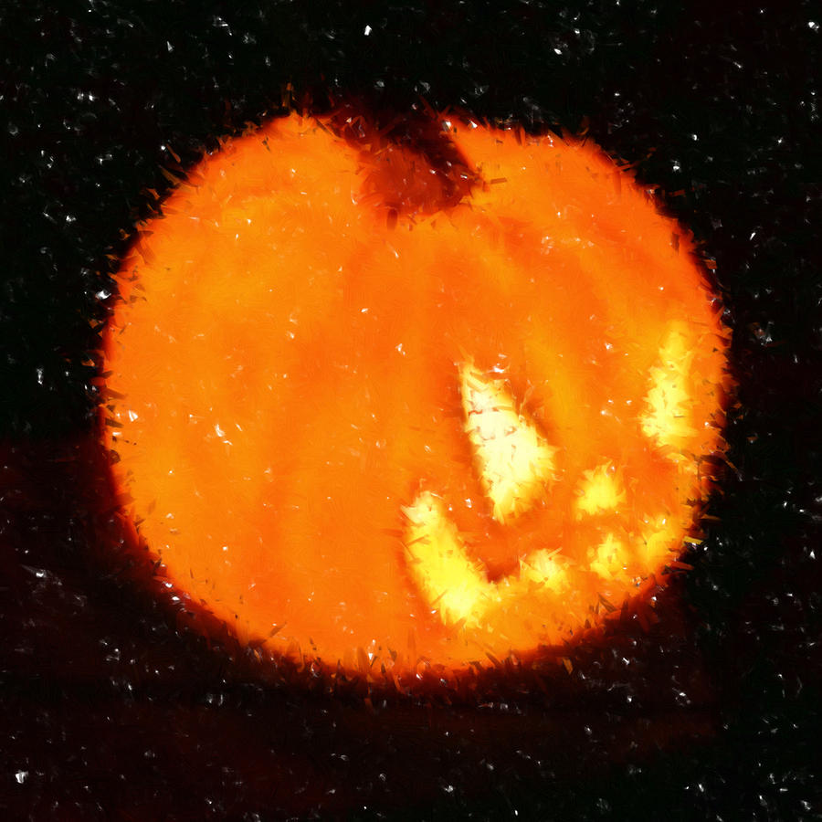 Angry Pumpkin Digital Art