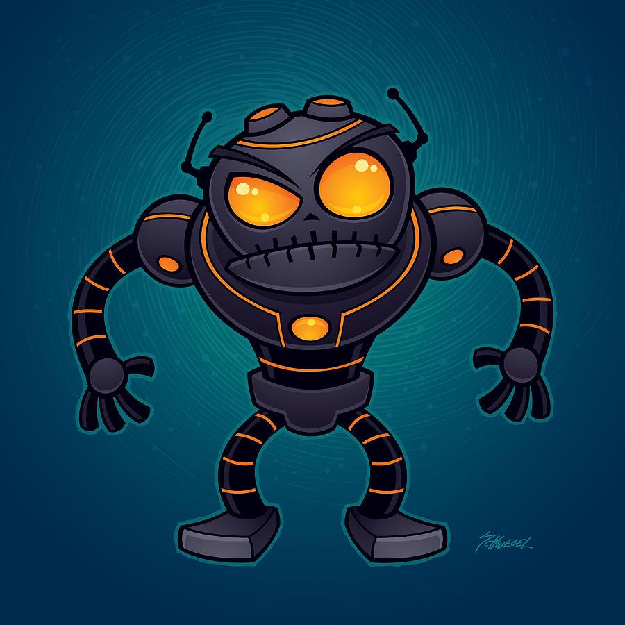 Angry Robot Drawing