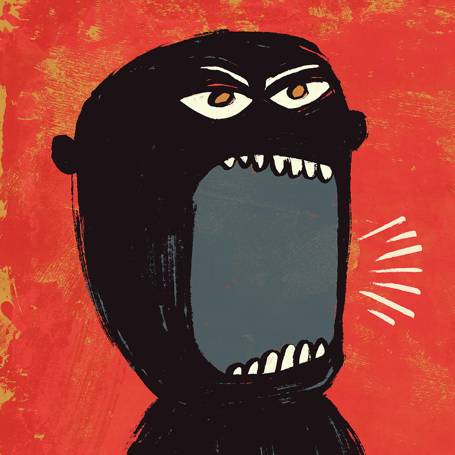 Angry Shout Man Illustration Digital Art  - Angry Shout Man Illustration Fine Art Print