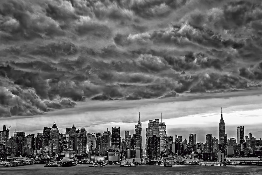 Angry Skies Over Nyc Photograph  - Angry Skies Over Nyc Fine Art Print