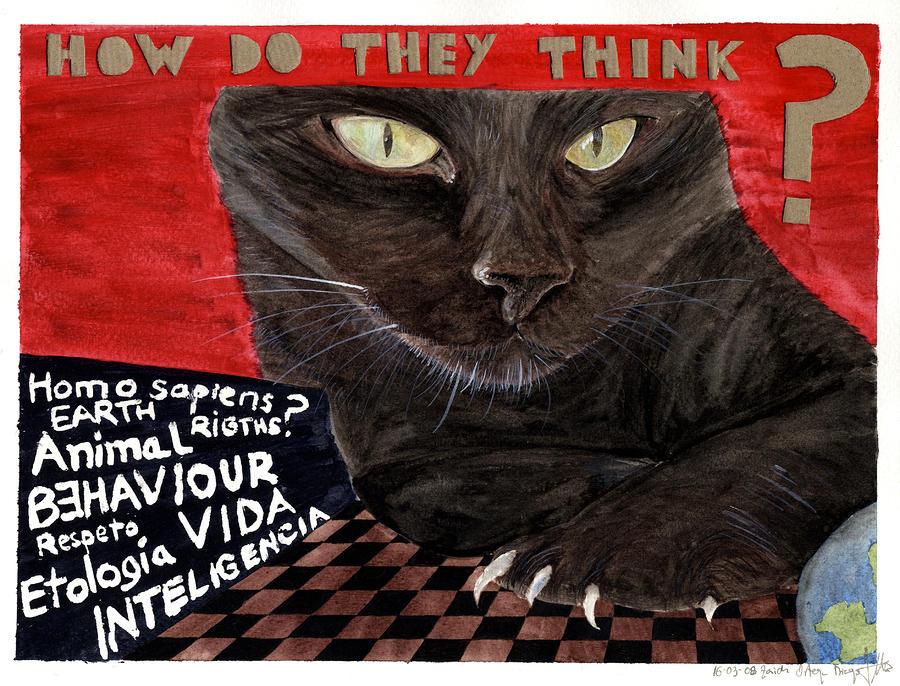 Animals Painting - Animal Intelligence by Zaida Ortega
