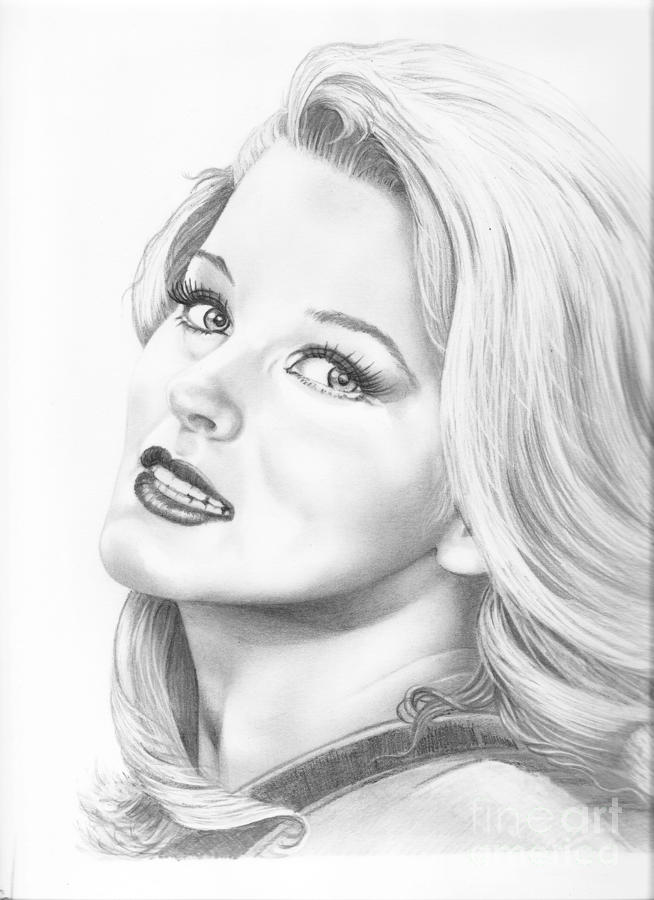 Ann Margret Drawing  - Ann Margret Fine Art Print