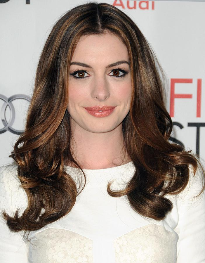 Anne Hathaway At Arrivals For Afi Fest Photograph  - Anne Hathaway At Arrivals For Afi Fest Fine Art Print