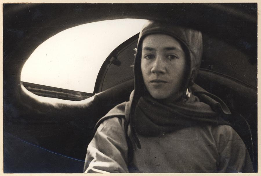 Anne Morrow Lindbergh Inside The Rear Photograph
